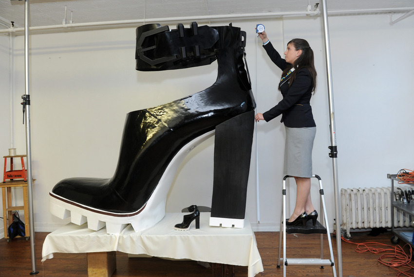 Largest High Heeled Shoe with Kenneth Cole