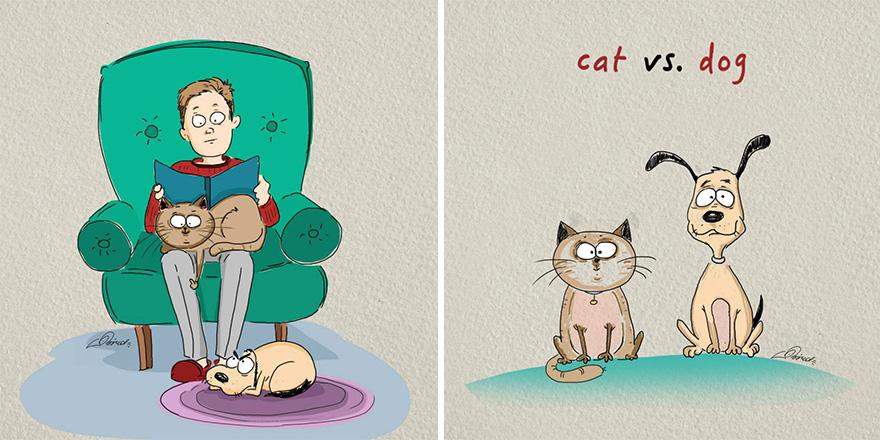 ilustraciones-diferencias-gatos-perros-bird-born-4