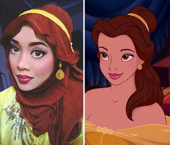 princesas-disney-maquillaje-hijab-saraswati-1