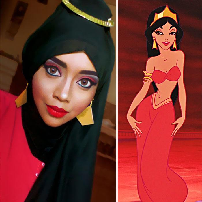 princesas-disney-maquillaje-hijab-saraswati-2