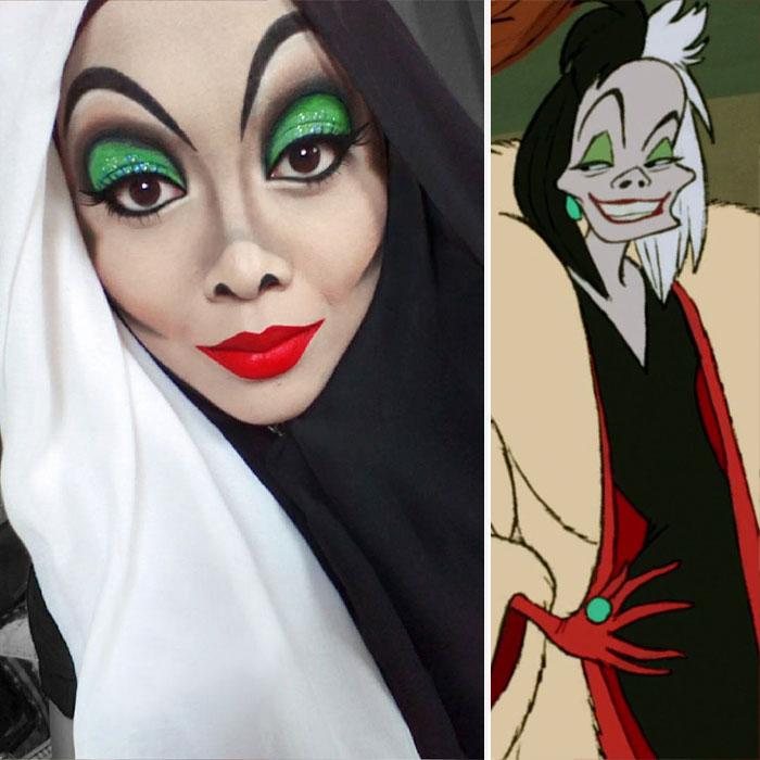 princesas-disney-maquillaje-hijab-saraswati-3