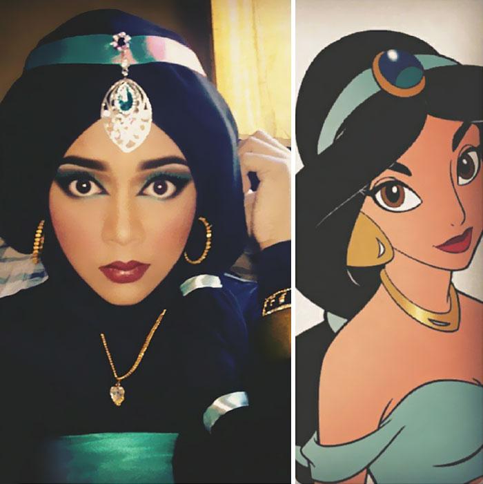 princesas-disney-maquillaje-hijab-saraswati-4