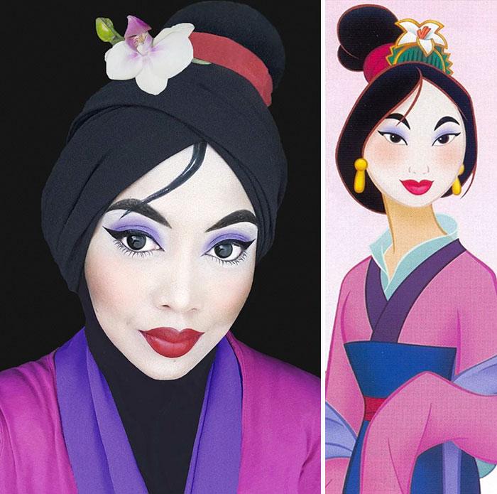 princesas-disney-maquillaje-hijab-saraswati-8